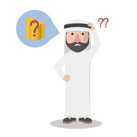 arabian bussinessman confused because of his money