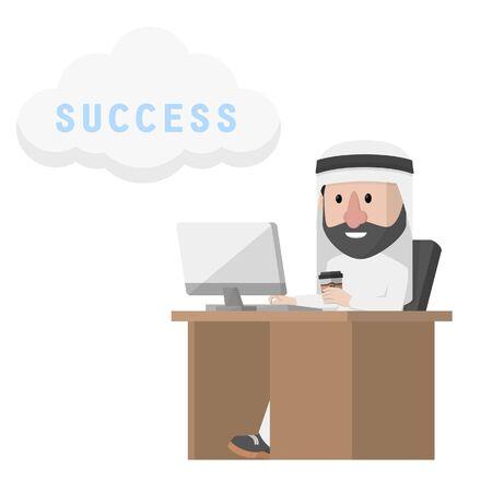 arabian worker dreams for success