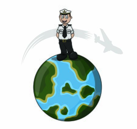 pilot over the world