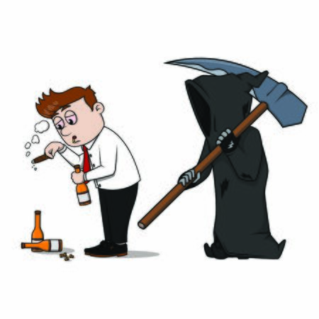 bad business with grimreaper vector Ilustrace