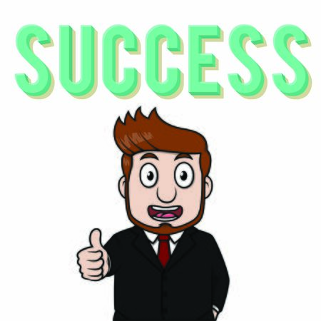 Businessman oke success illustration vector Ilustração
