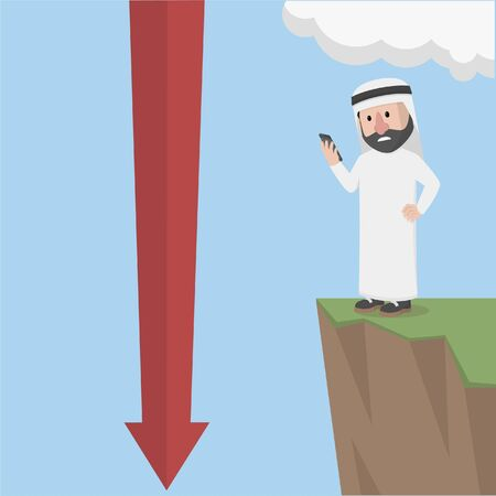 arabian bussinessman looking at loss
