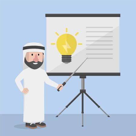 arabian bussinessman presentating inovation
