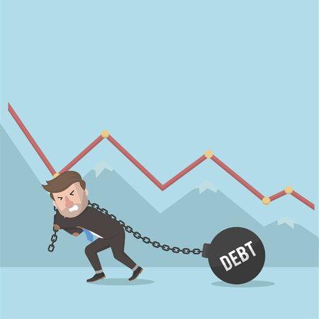 go bankrupt because of debt