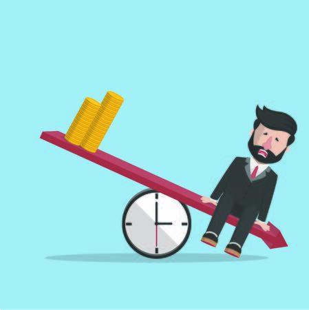 businessman sad down balance design