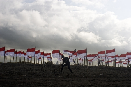 A thousand flags to Celebrate Indonesian Independence Day Editorial