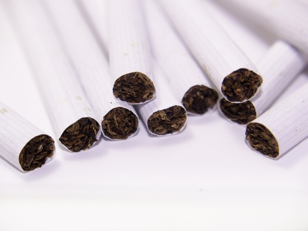 dependency: Cigarette isolated on white background Stock Photo
