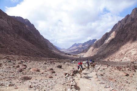 monte sinai: En el camino a la cima del monte Sinaí, Egipto