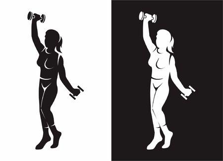 Women fitness silhouette