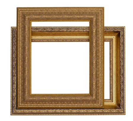 Frames for painting on a white background.