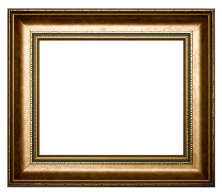 Frame for painting on a white background. Stock Photo