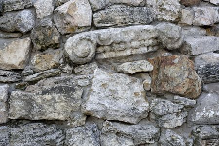 An ancient stone wall. Wall the wreckage from stories.