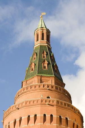 One Tower Kremlin against a backdrop of blue sky.