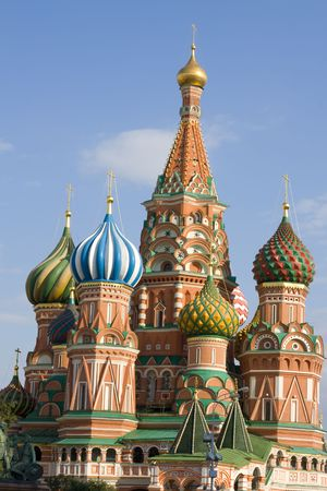 Blessed Basils Cathedral on Red Square in Moscow. photo