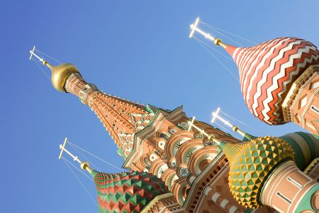 Blessed Basils Cathedral on Red Square in Moscow.