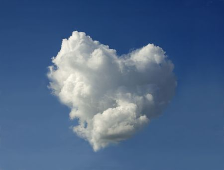 Surprise on Valentines Day - a cloud in the shape of the heart. photo