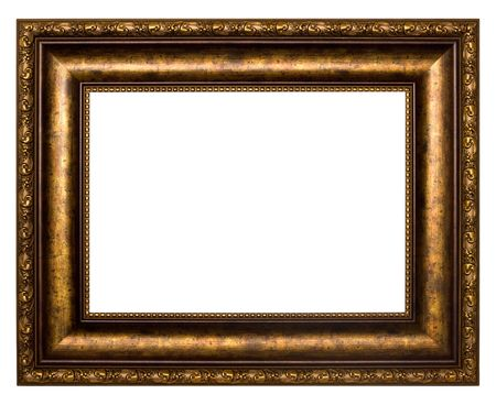 The bronze frame. Isolated on a white background.