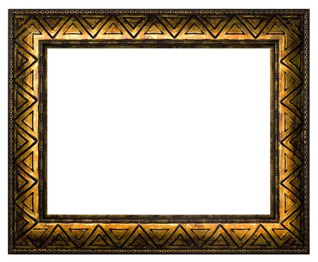 The bronze frame for painting and photography. Isolated on a white background. Stock Photo