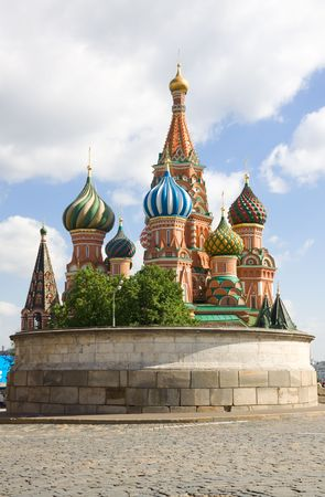 St. Basils Cathedral on Red Square in Moscow. Calvary.
