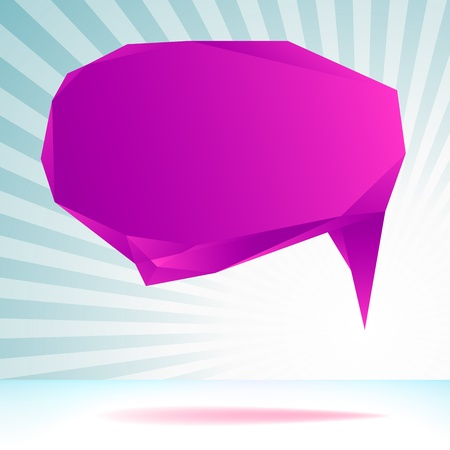 Abstract origami speech bubble template     EPS8