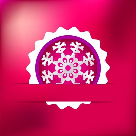 Christmas snowflake on red purple     EPS8 Stock Vector - 17525355