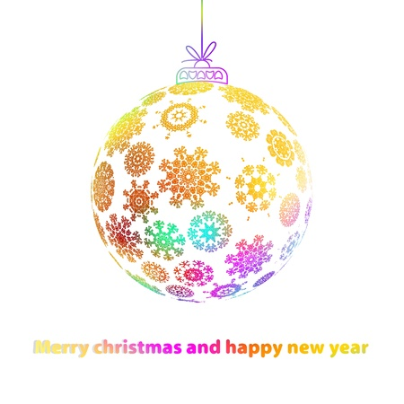 Christmas ball made from snowflakes    EPS8 Stock Photo - 17525414