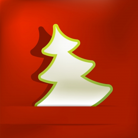 Christmas tree applique vector background    EPS8 Stock Photo - 17525379