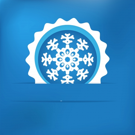 Christmas snowflake applique    EPS8 Stock Vector - 17525348