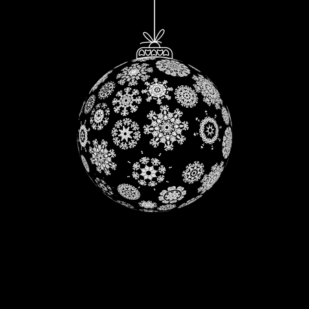 Black and White Christmas ball    EPS8 Stock Vector - 17525453