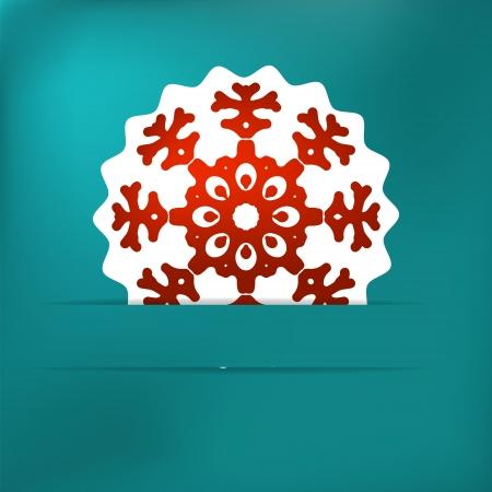 Christmas snowflake applique    EPS8 Stock Vector - 17525345