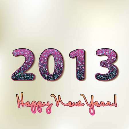 Happy new year 2013, colorful design    EPS8 Stock Vector - 17525396