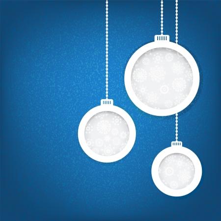 Kerst ballen gesneden uit papier begrip EPS8 Stockfoto