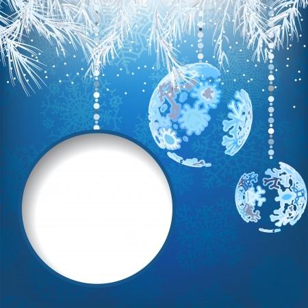 Christmas balls with snowflakes    EPS8 Stock Vector - 17525428