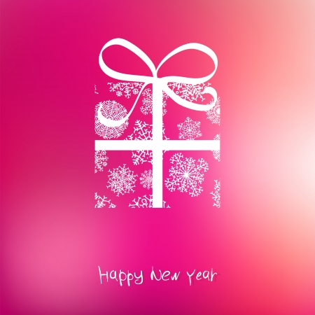 Christmas gift box from snowflakes on pink    EPS8 Stock Vector - 17525389