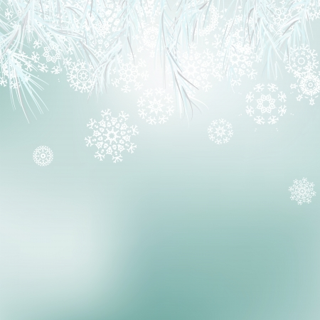 Abstract Christmas background snowflakes    EPS8 Stock Vector - 17525415