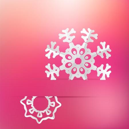 Christmas snowflake on pink purple     EPS8 Stock Vector - 17525360