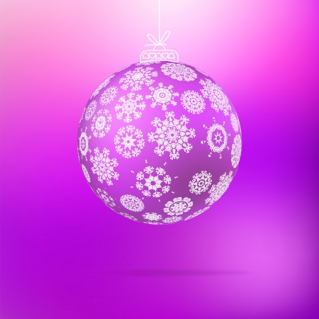 Christmas ball from snowflakes    EPS8 Stock Vector - 17525469