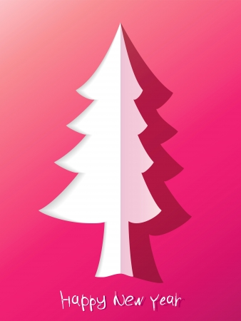 Paper cut christmas tree    EPS8 Stock Vector - 17525340