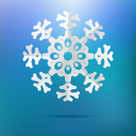 Paper christmas snowflake on a blue    EPS8 Stock Vector - 17525350