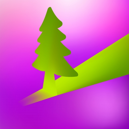 3D Christmas tree vector background    EPS8 Stock Vector - 17525336