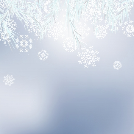 Abstract Christmas background snowflakes    EPS8 Stock Vector - 17525418