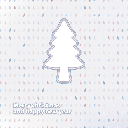 Merry Christmas festive tree background    EPS8 Stock Vector - 17525384