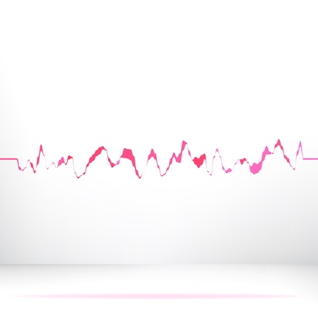 Red pink waveform background     EPS8 photo