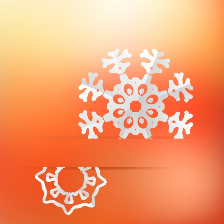 Christmas background and snowflakes     EPS8 Stock Vector - 17525359