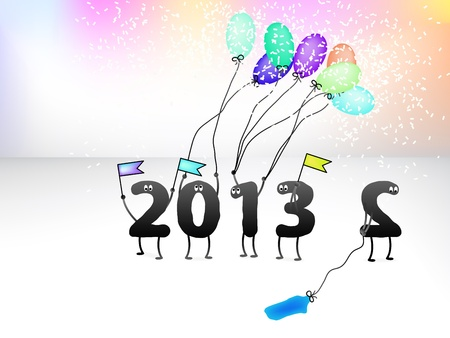 new year s eve: Funny 2013 New Year s Eve greeting card    EPS8