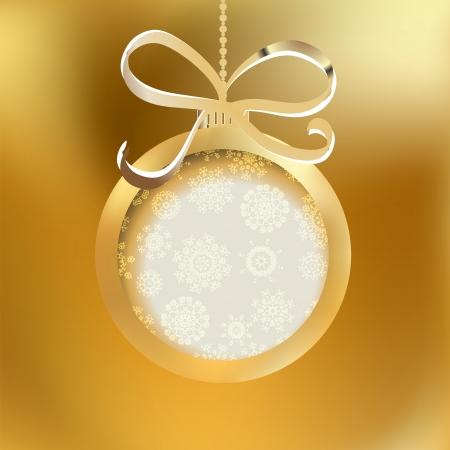 Beautiful golden christmas ball     EPS8 Stock Vector - 17525402
