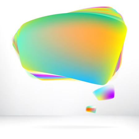 Abstract glossy speech bubble     EPS8