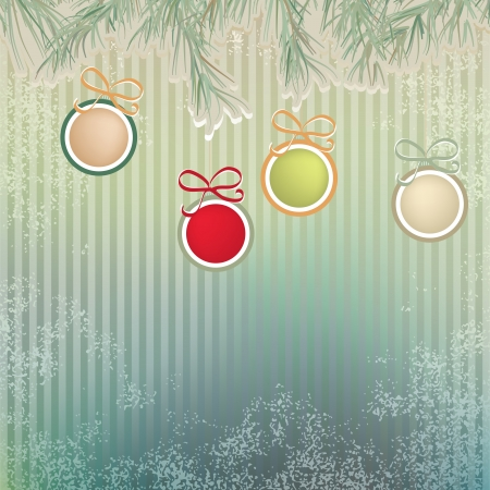 Christmas background with retro balls     EPS8 Stock Vector - 17525666