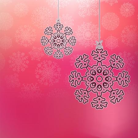 Christmas balls with snowflakes    EPS8 Stock Vector - 17525700