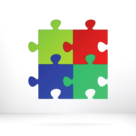 Puzzle abstract illustration concept    EPS8